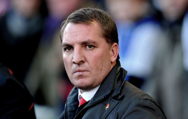 Liverpool manager Brendan Rodgers looks on before the English FA